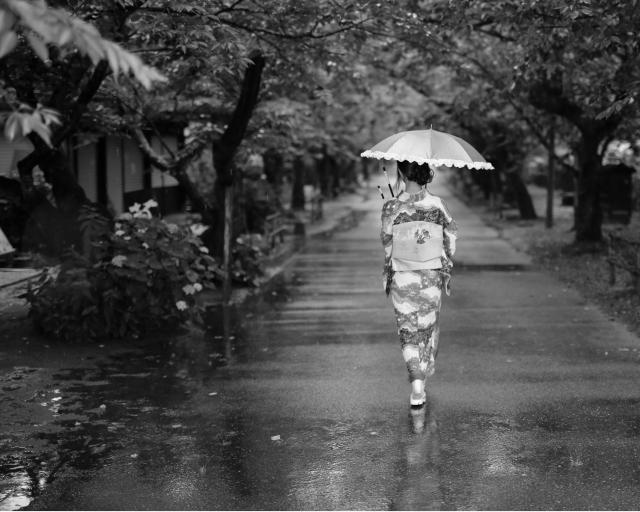 梅雨の着物